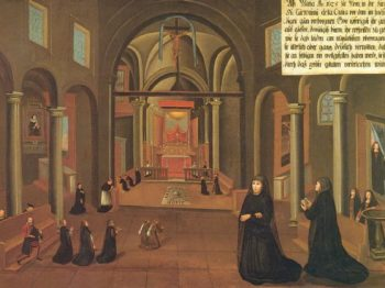 The Slovak CJ members prayed Quarantore with Mary Ward for the end of the pandemic