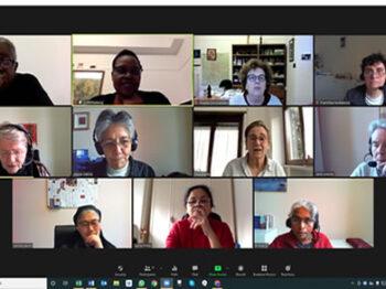 CJ and IBVM leadership teams online meeting