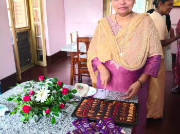 Birthday celebrerations and leadership meeting
